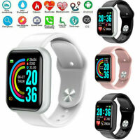 Smart Watch Y68 Waterproof Blood Pressure Heart Rate Alarm Fitness Wristband