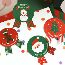 24x Mixed Paper Christmas Santa Claus Sealing Sticker Candy Cake Gift Decor DIY
