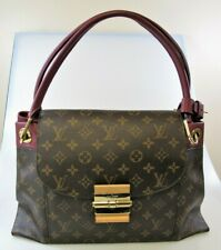 LOUIS VUITTON MONOGRAM COATED CANVAS OLYMPE AURORE HANDBAG BROWN / BORDEAUX