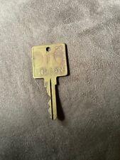 Vintage Large Brass Room Key Hilton Hotel Elvis Presley Era