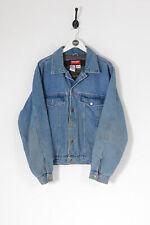 Vintage WRANGLER Harley Davidson Lined Denim Jacket Mid Blue (L)