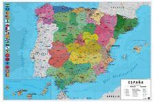 Maxi Poster Mapa España Fisico Politico