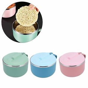 1200ML Rice Noodle Bowl Anti-Scalding Thermal Lunch Box Kitchen Utensils W/Lid