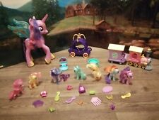 My Little Pony Lot Huge Train Carriage Twilight Sparkle pinkie pie rainbow dash