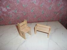 Moderne Bank+Stuhl-Kinderzimmer-Dora Kuhn-Kaufladen-Puppenhaus-Puppenstube