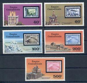 CENTRAL AFRICAN* 1977* compl.set 5 stamps*MNH** ZEPPELINS & STAMP- Mi.No 488-92