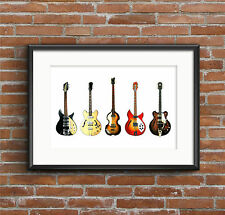 The Beatles' Guitars - POSTER PRINT A1 size