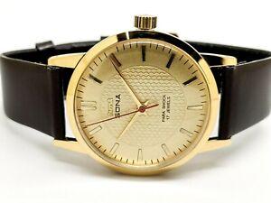Hmt Sona Slim Hand Winding Gold Plated Men 17 Jewels Vintage Watch Run Order