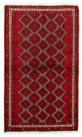 """Vintage Tribal Hand-knotted Carpet 3'9"""" x 6'3"""" Traditional Wool Rug"""