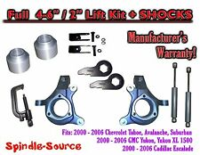 "2000 - 2006 Chevy GMC 1500 4-6"" / 2"" Lift Kit Spindles Spacer TOOL EXT + SHOCKS"