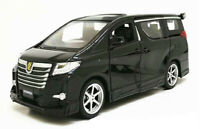 1:24 Toyota Alphard MPV Model Alloy Diecast Pull Back Car Sound Light Toys Gift