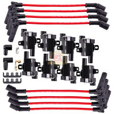 Ignition Coils Spark Plug Wires Chevy Silverado 1500 2500 Gmc Escalade Sierra