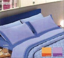 Completo lenzuola FLANELLA Piazza e Mezza flanellate 5972 blu