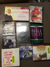 HUGE LOT OF 49 Audiobook CD lot various authors wholesale. Free shipping Lot (9)
