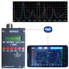 Bluetooth Android verison MINI60 1 - 60 Mhz HF ANT SWR Antenna Analyzer Meter