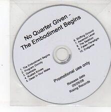 (DS547) No Quarter Given, The Embodiment Begins - 2008 DJ CD