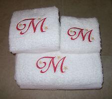 Embroidered Personalised Bath Towel Set-Bath,Hand and Wash Cloth