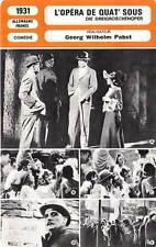FICHE CINEMA : L'OPERA DE QUAT'SOUS - Préjean,Pabst 1931 The Threepenny Opera