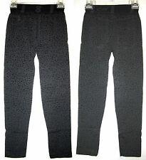 JEGGING Black Leopard Capri Legging Skinny Fit Slim Faux Denim Jeans Pant S/M/L