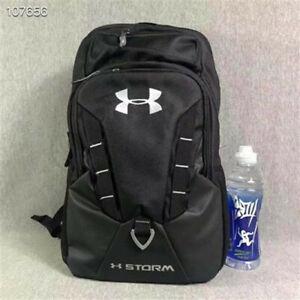 Black Under Armour Waterproof Nylon Backpack Students Sports Bag AAAAA+