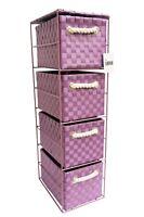 Arpan Purple 4 Drawer Storage Cabinet Unit