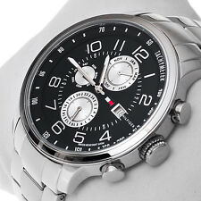 NWT Tommy Hilfiger Men's 1790860 Multi-Function Enamel Sport Watch MSRP $ 165