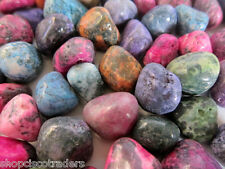 *1/4LB* Dyed Tumbled Stone MIX 20-25mm Healing Crystals Protection Children