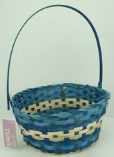 NEW Spr!tz Blue Woven Easter Basket w/ Moving Handle
