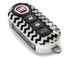 Fiat & Abarth 500 500l Gloss puntualizzare due pezzi cover chiave NUOVO e ORIGINALE FIAT