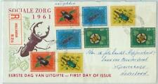 67494 - Netherlands NEW GUINEA - Postal History - FDC COVER 1961 -  INSECTS