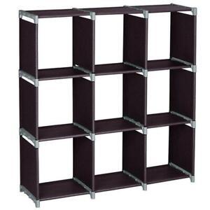 Storage Cubes Modular Shelf Girds Closet Organizer Cabinet Bookcase