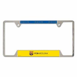 New FC Barcelona FCBareclona Full Size Metal License Plate Soccer Frame Wincraft