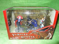 "NEW Vampire Hunter D PVC Figure Set of 3 by Dark Horse - 4"" Tall Fully Painted"
