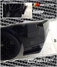 Carbon Fiber Rear Bumper Extensions for 2009-2012 NISSAN GTR Skyline GT-R R35