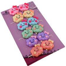 6 Cute Color Cartoon Cloud Clip On Earrings Gift Set for Kids Teenage Teen Girls