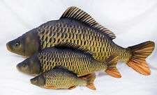 GABY 3 COMMON CARP SET! SOFT TOY FISH PILLOWS GREAT FISHING GIFT ! 3 SIZES CARP!