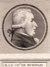 Portrait XVIIIe GuyThimoléon d'Aubergeon de Murinais Député Du Dauphiné 1789