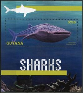 Guyana 2013 MNH Sharks 1v S/S Marine Animals Whale Shark Nature
