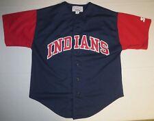 MLB Baseball Cleveland Indians Jersey Youth M Medium Starter Genuine Merchandise