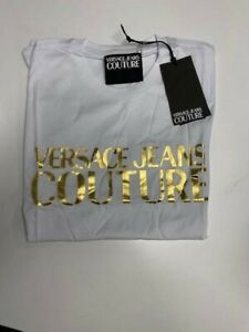 Versace Jeans Couture MENS T-Shirt B3GUA7TR  Gold Logo, White or Black