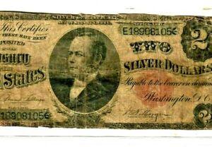 """$2 """"WILLIAM WINDOM"""" (FR-246) 1891 (RARE) $2 """"WINDOM"""" (FR-246) 1891 (RARE)  $2 !!"""