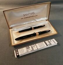 Vintage SHEAFFER'S SNORKEL FOUNTAIN PEN and PENCIL SET