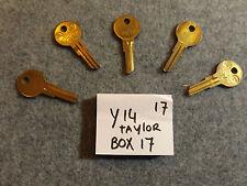 Set of 5 key blank uncut blade Y14 O1122AR, U122AR, YA-45, RB1019B10L, BA5R, YJ2