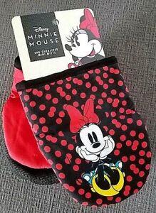 Disney Mickey Mouse Minnie Mouse Kitchen Mitt Oven Mitt Potholders NEW Set of 2