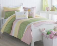 VCNY Big Believers LAZY DAISY 3-pc Comforter Set FULL/QUEEN SHAM NEW PINK White