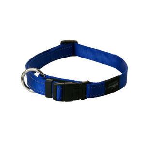 Rogz Utility Bright Reflective Durable Dog Collar, Blue