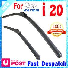 Pair Frameless Windscreen Wiper Blade HOOK For hyundai i20 PB 2010 - 2016