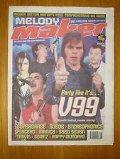 MELODY MAKER 1999 AUG 21 SUPERGRASS SUEDE PHONICS MANIC