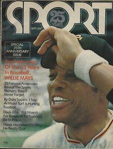 September 1971 Sport Magazine 25th Anniversary Issue - Willie Mays Joe DiMaggio