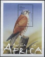 [GAM] GAMBIA 2001 BIRDS OF AFRICA, Eurasian kestrel. SOUVENIR SHEET. SC#2495